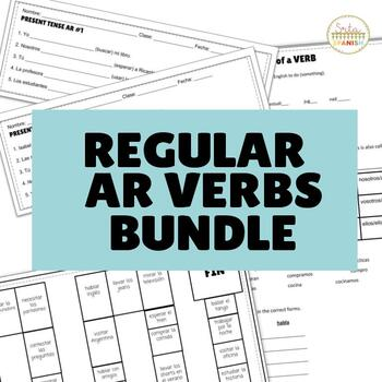 Present Tense ER IR Verbs (Regular Verbs Only!) BUNDLE