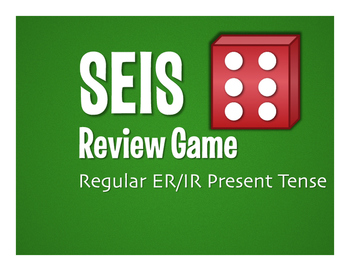 Spanish Present Tense Regular ER and IR Seis Game
