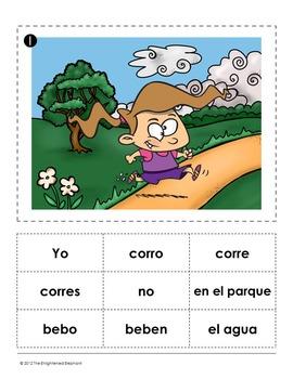 Present Tense -ER and -IR Verbs Spanish Sentence Writing Station Activities