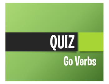 Spanish Go Verb Quiz