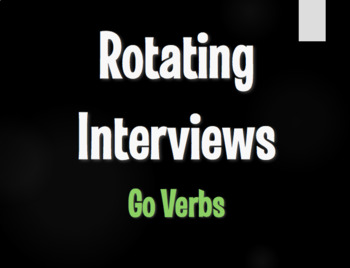 Spanish Go Verb Rotating Interviews