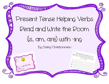 Present Tense Helping Verbs Read and Write the Room
