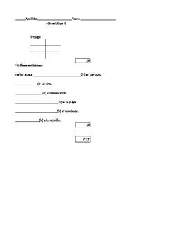 Present Tense Ir Conjugation Smart Goal Quiz Avancemos 1 Unidad 2 Lección 2