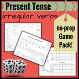 Present Tense Irregulars in Spanish: A Review No-Prep Game Pack