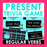 Present Tense Jeopardy-Style Trivia Game (REGULAR VERBS ON