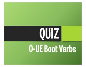 Spanish O-UE Boot Verb Quiz