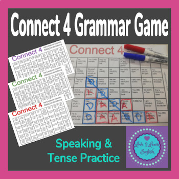 Connect 4 Tense Practice Grammar Game