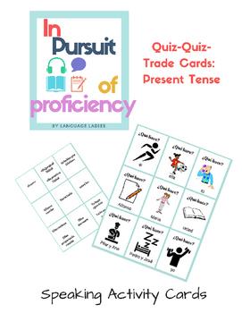 Present Tense Quiz Quiz Trade Cards