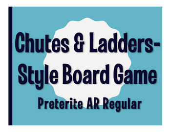Spanish Present Tense Regular AR Chutes and Ladders-Style Game