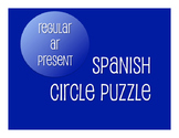 Spanish Present Tense Regular AR Circle Puzzle