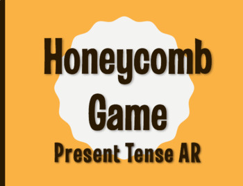 Spanish Present Tense Regular AR Honeycomb Partner Game