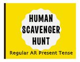 Spanish Present Tense Regular AR Human Scavenger Hunt