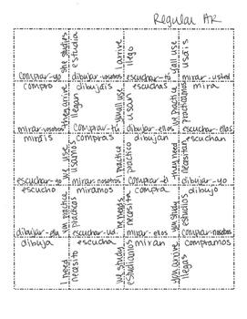 Spanish Present Tense Regular AR Jigsaw Puzzle