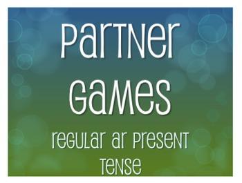Spanish Present Tense Regular AR Partner Games