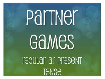 Spanish Present Tense Regular AR Partner Games