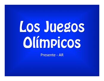 Spanish Present Tense Regular AR Olympics