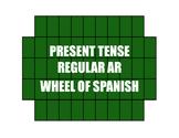 Spanish Present Tense Regular AR Wheel of Spanish