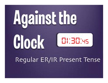 Spanish Present Tense Regular ER and IR Against the Clock