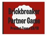 Spanish Present Tense Regular ER and IR Brickbreaker Partner  Game