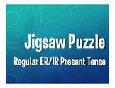 Spanish Present Tense Regular ER and IR Jigsaw Puzzle