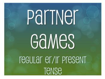 Spanish Present Tense Regular ER and IR Partner Games