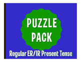 Spanish Present Tense Regular ER and IR Puzzle Pack
