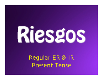 Spanish Present Tense Regular ER and IR Jeopardy-Style Review Game