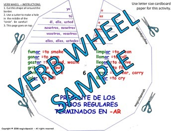 Present Tense. Regular Verb Conjugation - Verb Wheels. PDF Document.
