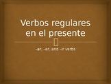 Present Tense Regular Verbs Conjugation Whiteboard Practice