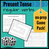 Present Tense Regular Verbs in Spanish: A Review No-Prep Game Pack