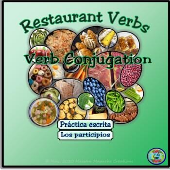 Restaurant Verb Practice Worksheets