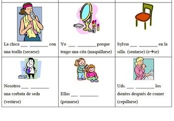 Present Tense Spanish Reflexives Unit Reflexive Tense