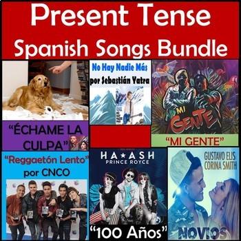 Present Tense Spanish Songs Bundle - CNCO, Fonsi, Yatra - Best Seller