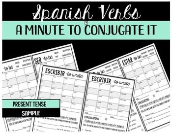 Present Tense Spanish Verbs- A Minute to Conjugate It
