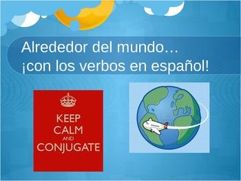 Present Tense Spanish Verbs - Around the World!