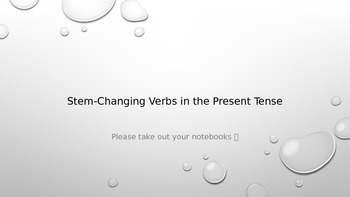 Present Tense Stem-Changing Verbs for Spanish II and III