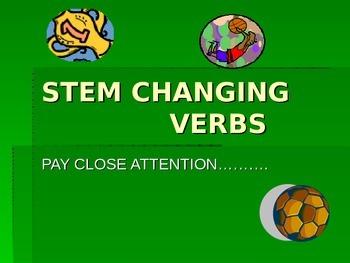 Present Tense Stem Changing verbs