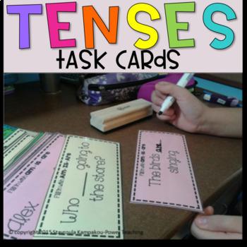 Present Tense Task Cards (-ing)