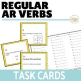 Regular AR Verbs Present Tense Task Cards