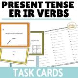 ER IR Verbs Regular Verbs Present Tense Task Cards