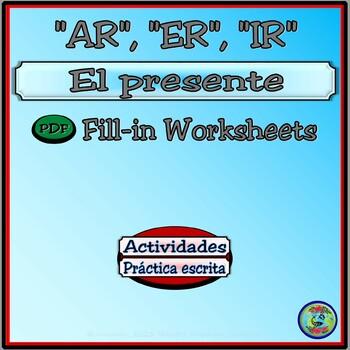 Present Tense Verb Drill Conjugation Worksheets
