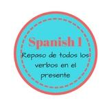 Present Tense Verb Review (Spanish 1)
