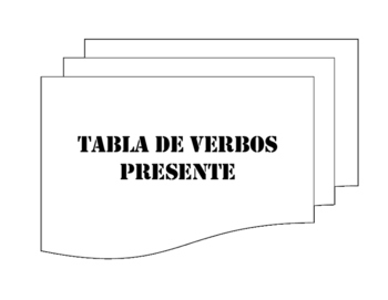 Present Tense Verb Table Packet