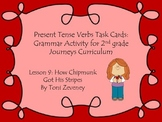 Present Tense Verb Task Cards for Journeys Grade 2