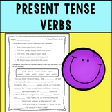 Present Tense Verbs Assessment or Practice