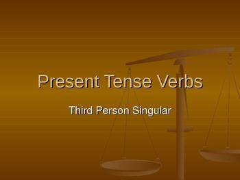 Present Tense Verbs: ESL Grammar PowerPoint