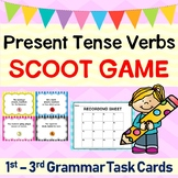 Present Tense Verbs Grammar SCOOT GAME or Task Cards