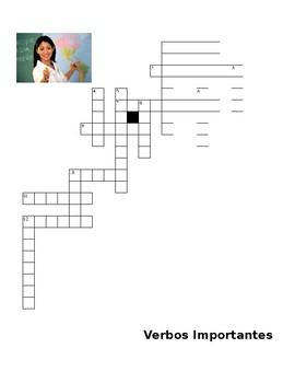 Present Tense Verbs crossword