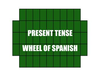 Spanish Present Tense Wheel of Spanish