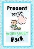 Present Tense Worksheet Pack - Pair Work, Group activities, Class Activities
